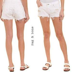 Rag & Bone White Cut Off Shorts Size 24